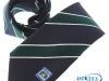 37. Roundwood Golf Club - classic colour woven club tie with satin stripes