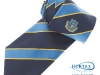 44. Home Farm F.C. - Classic colour woven club tie with textured ground & satin stripes