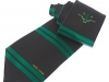 47. Neptune Rowing Club - bold horizontal striped woven tie with club crest