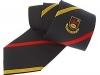 141. Sligo R.F.C. - colour woven tie with vertical reppe weave and satin stripes