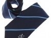 135. St. Vincent's F.C. - Colour woven tie with reppe ground weave satin stripes and crest at base