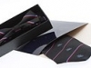 86. Sutton Golf Club - small square texture colour woven tie & boxed bow in gloss presentation pack