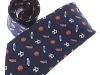 24. Football Fans - fun patterned printed 100% pure silk tie series