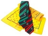 Corporate woven Ties in four colourways with matching printed ladies scarves
