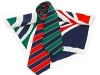 Corporate woven Ties in two colourways with matching printed ladies scarves