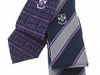 76. Clongowes College - printed college stripe and music department ties