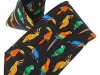 61.  Aviary Parrots Florida - printed 100% pure silk promotional corporate gift tie