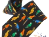 61. Parrots - Printed 100% pure silk promotional corporate gift tie